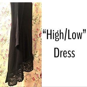 EUC Black Monoreno Dress with sheer long sleeves